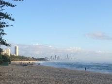 Morning runs along Burleigh beach towards Miami